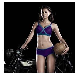 Sutien Firm Support - Xcontrol Sports Bra Purple Ocean