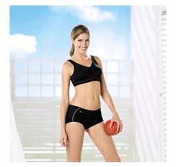 Sutien bilateral post-mastectomie, Vivana sport negru