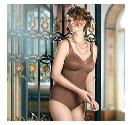 Corset-body cu efect modelant Clara Deep Taupe